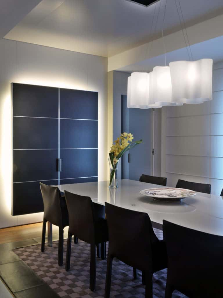 Residential lighting design - dining room - focus light - ambient light - flair studio design
