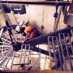 Construction installation spiral staircase flair studio