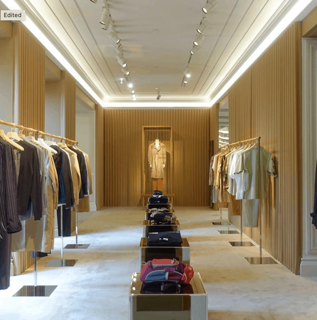 Burberry Flagship Store, Milan Montenapoleone, Flair Studio Design