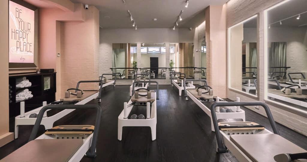 Vita Pilates, fitness hall, flair studio design, exercise, wellness experience