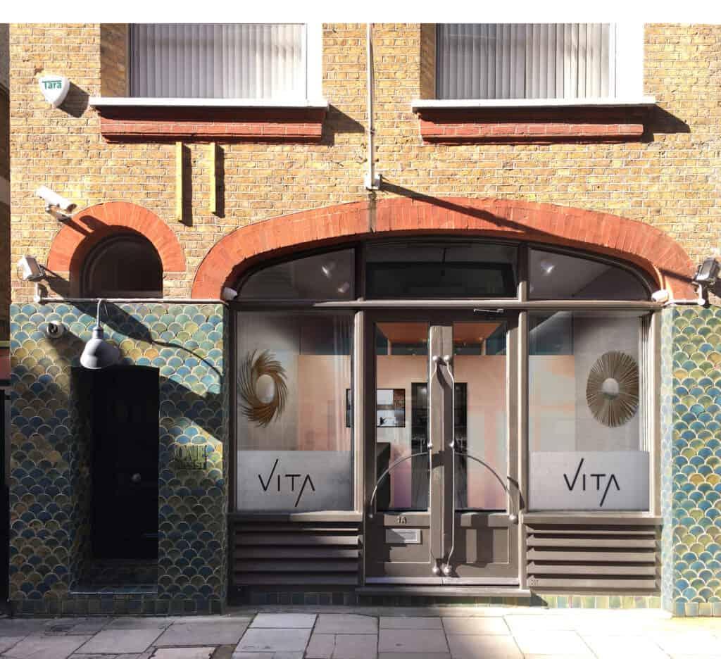 Vita Pilates facade, redesign, street branding, rebranding, flair studio design