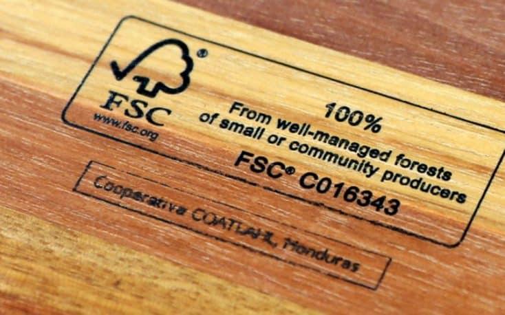 FSc wood certificate - procurement - sustainability