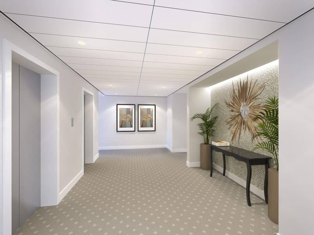 Lift lobby, interior design, christopher guy, flair studio